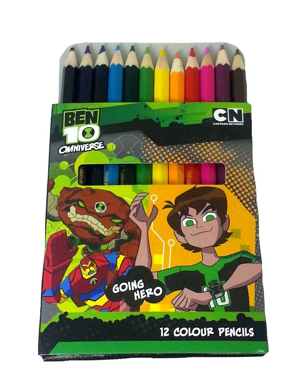 BEN10 GOING HERO 12PCS SHORT COLOR PENCIL-0