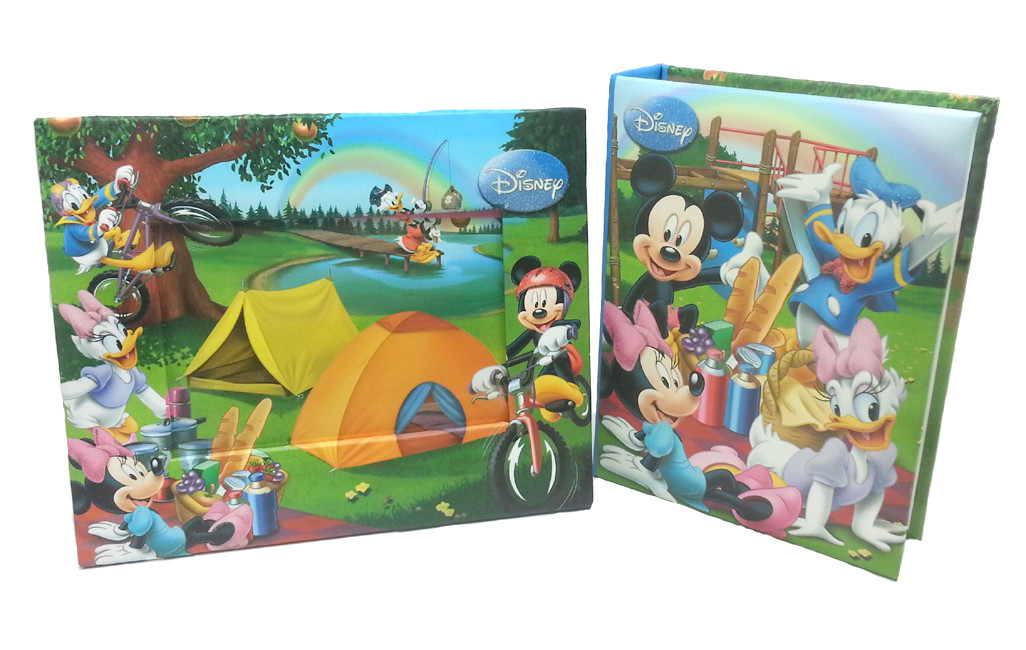 DISNEY MICKEY MOUSE & FRIENDS PHOTO ALBUM WITH FRAME SET-0