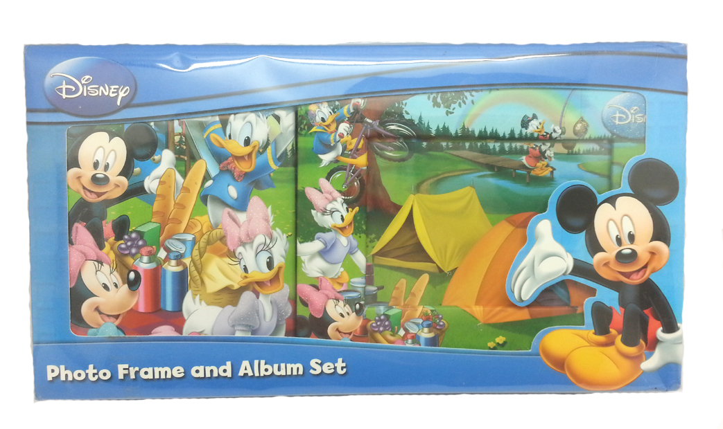 DISNEY MICKEY MOUSE & FRIENDS PHOTO ALBUM WITH FRAME SET-7730