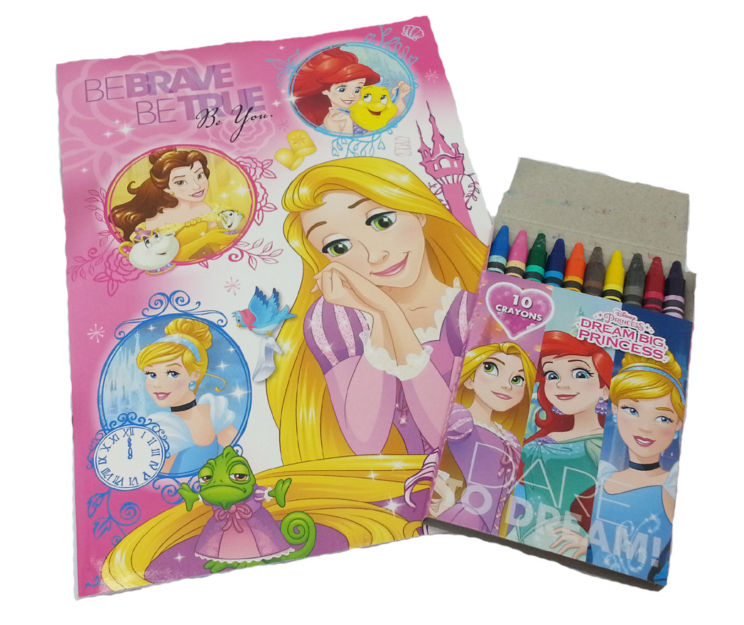 DISNEY PRINCESS BE BRAVE COLORING BOOK WITH 10PCS CRAYON SET-0