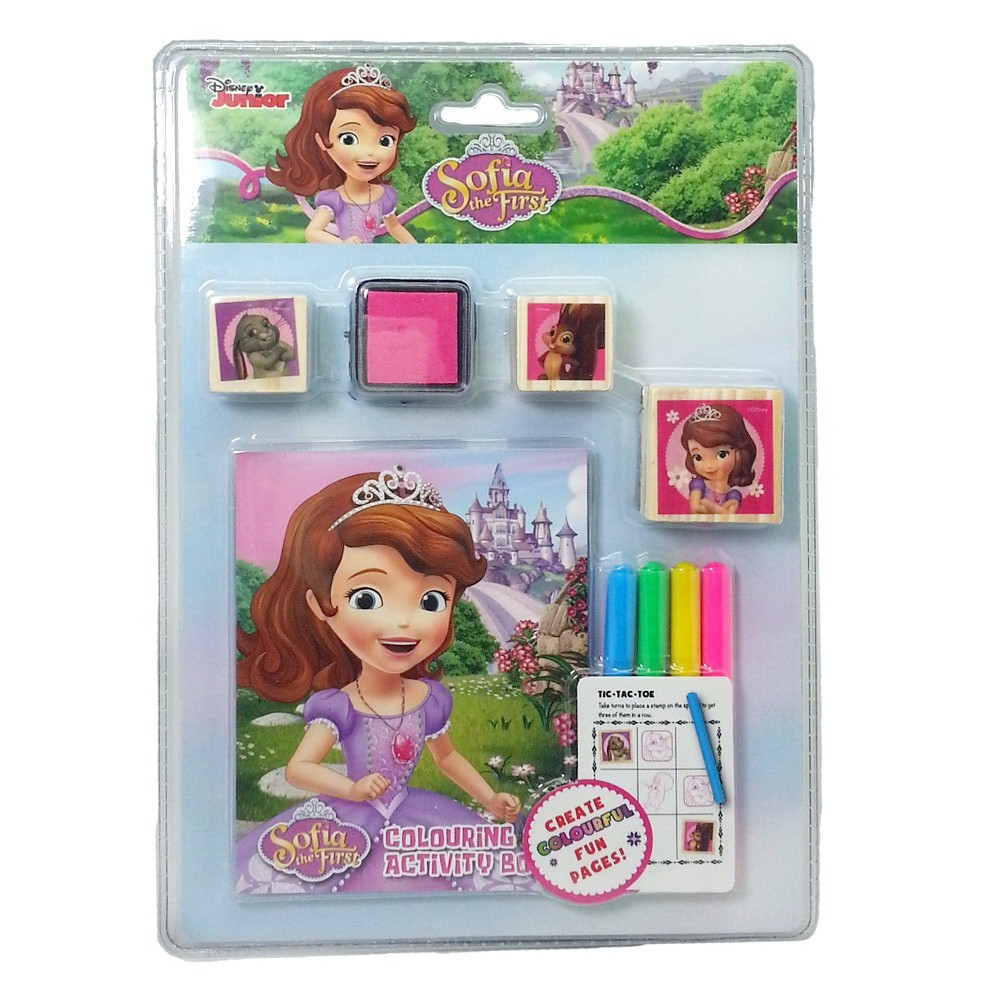 DISNEY SOFIA THE FIRST FOREST COLORING & STAMPER SET-0