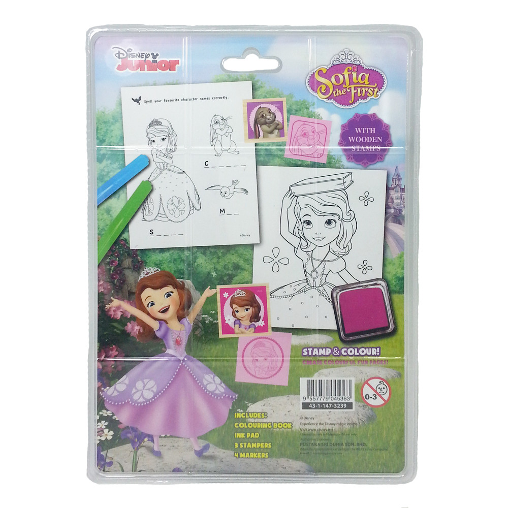 DISNEY SOFIA THE FIRST FOREST COLORING & STAMPER SET-12238